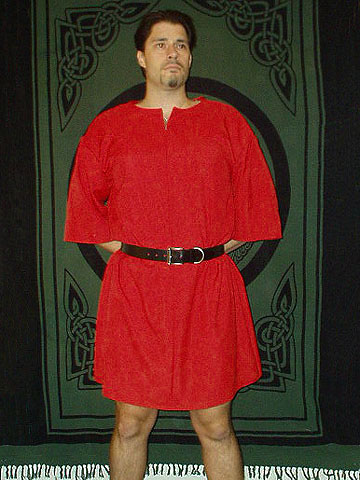 Roman Period Ensemble for Roman Miles / Soldier / Centurion / Legionaire with 100% Linen Tunic in Your Choice of Color, Leather Belt, and Cloak Available!!!