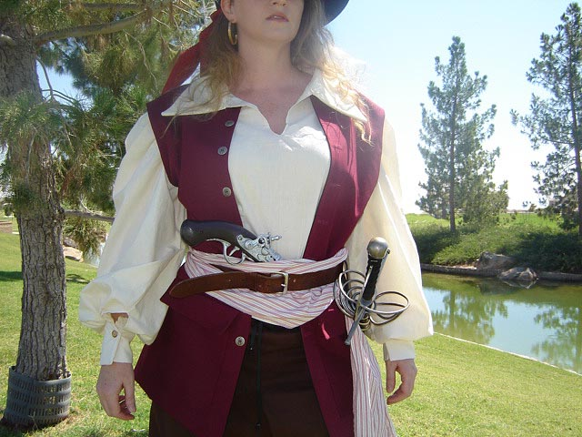 Pirates!! Well call me a mother's goat! It be Anne Bonny! High Quality Comfortable Pirate Shift with Wide Pin-tucking in the Sleeves in 100% Weavers Cotton