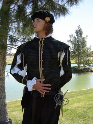 Historically Reproduced Celtic, Medieval, and Renaissance Period Gentlemen's Doublets at Misty Thicket Clothing!!!