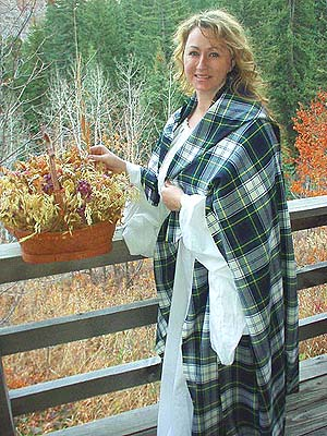 Authentic 100% Worsted Wool Scottish Highlander Tams at Misty Thicket Clothing!