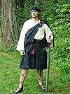 Highly Authentic (c. 1000 - 1460) Scottish Highlander Ensemble with 100% Worsted Clan Tartan Wool Kilt, Linen or Cotton Tunic, and Matching Tam o Shanter!!!