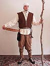 Ancient Renaissance Peasant Outfit for a Farmer, Landowner, Rogue, Peasant, Commoner, Serf with Jacobite Shirt, Short Jerkin in Heavy Twill, Rope Belt, and Pants in Your Choice of Fabric and Color!!!
